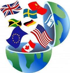 Diensten over heel de wereld